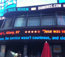 Dominos ticker in Times Square