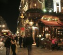 British pub at night