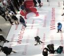 Düsseldorf, DEU, 12.3. 2016. Die Leitmesse ProWein ist alljährlich der ultimative Treffpunkt der internationalen Wein- und Spirituosenbranche. 6.200 Aussteller aus 59 Ländern präsentierten sich zur ProWein 2016 vom 13. bis 15. März in Düsseldorf.  Etwa 42