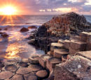 Sunset at Giants Causeway