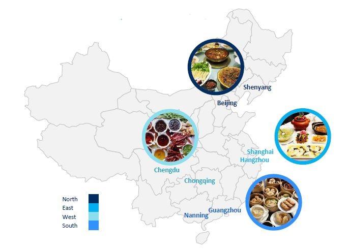 China taste map