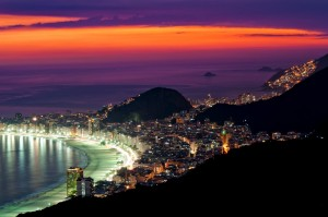 Rio beach night 300x199 - Hosting Brazil style