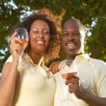 AfricanCouple drinking wine 150x150 - Hosting Brazil style