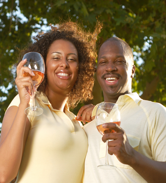 AfricanCouple drinking wine - Nigeria: Bubbles, brands and new consumers