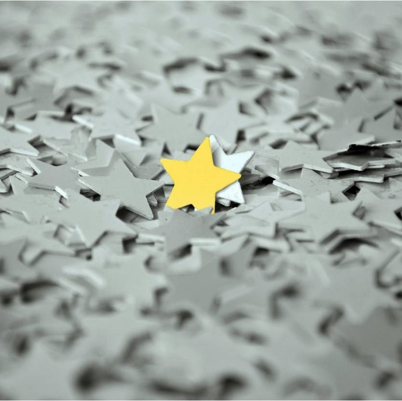 One gold star in lots of grey ones 800x799 - The special one