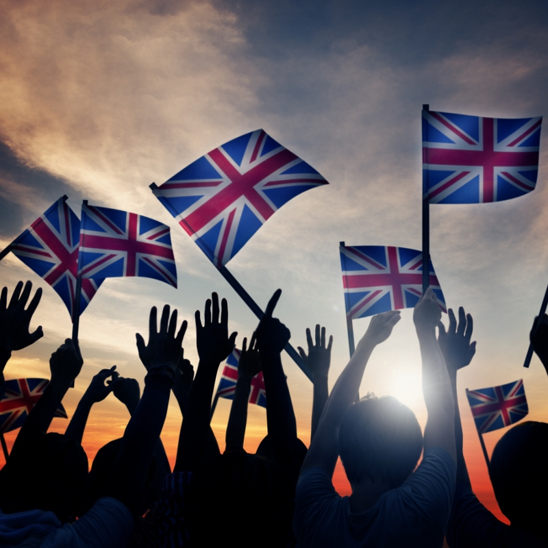 People waving GB flags 800x800 - Prosecco-isation