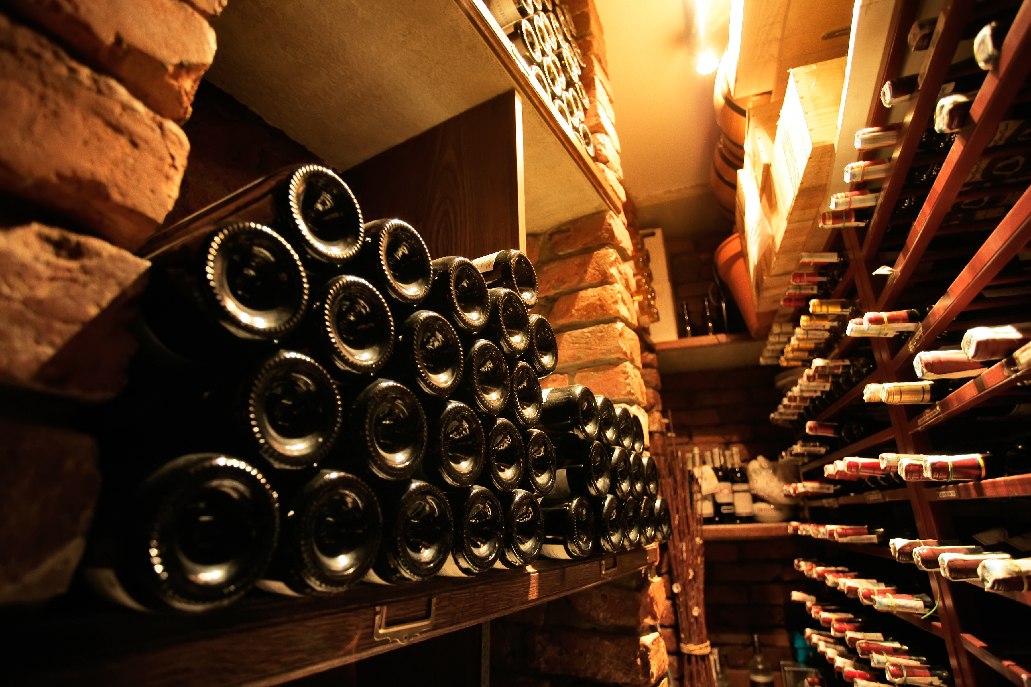 Bottles of red wine in wine cellar 93338578 - Fakes still a problem in China