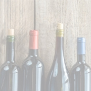 Wine bottles with corks