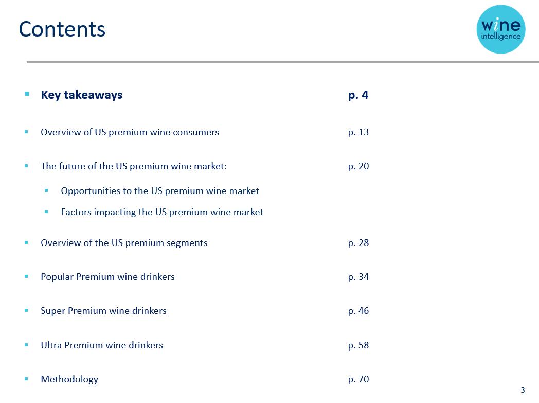 Contents US Premium - Premium Wine Drinkers in the US Market 2019