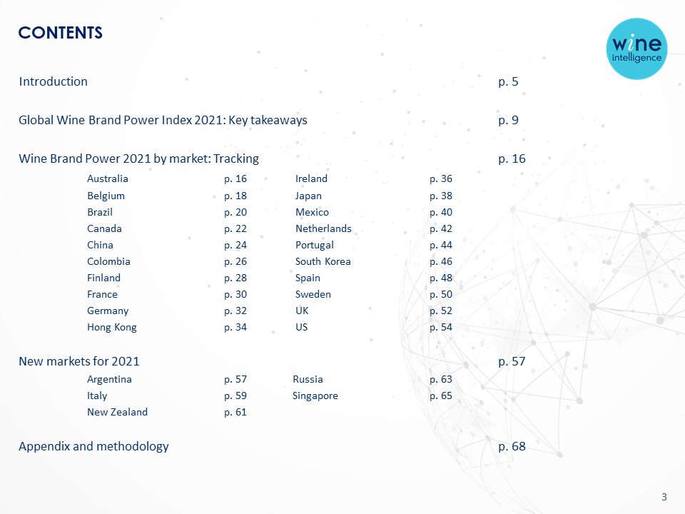Wine Intelligence Global Wine Brand Power Index 2021 report final v1 content - Global Wine Brand Power Index 2021